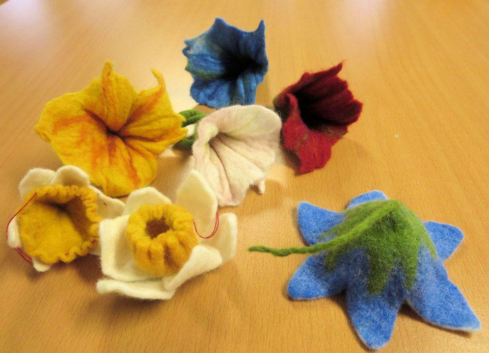 Blumen aus Filz